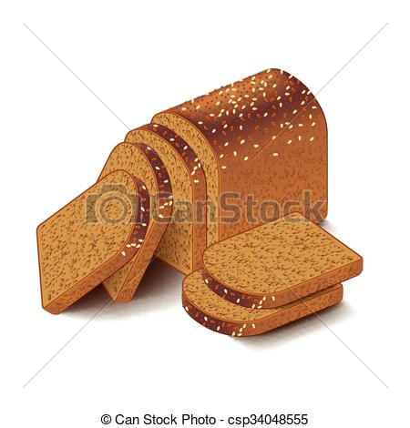 Grain clipart bread Grain on Vector bread white