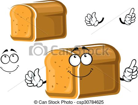 Grain clipart bread Character whole Cartoon Illustration csp30784625