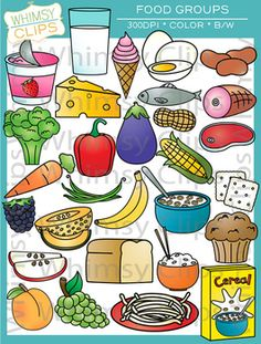 Grain clipart food group Use Lineart and Dairy Groups