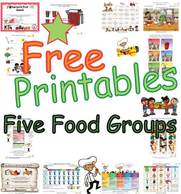Grains clipart food group Five And Learning Food Groups