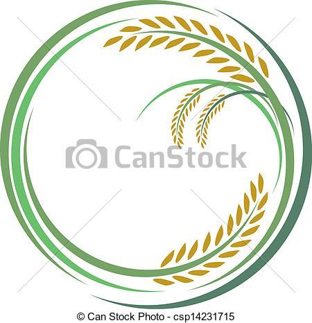 Rice clipart rice grain On of Art csp14231715 white
