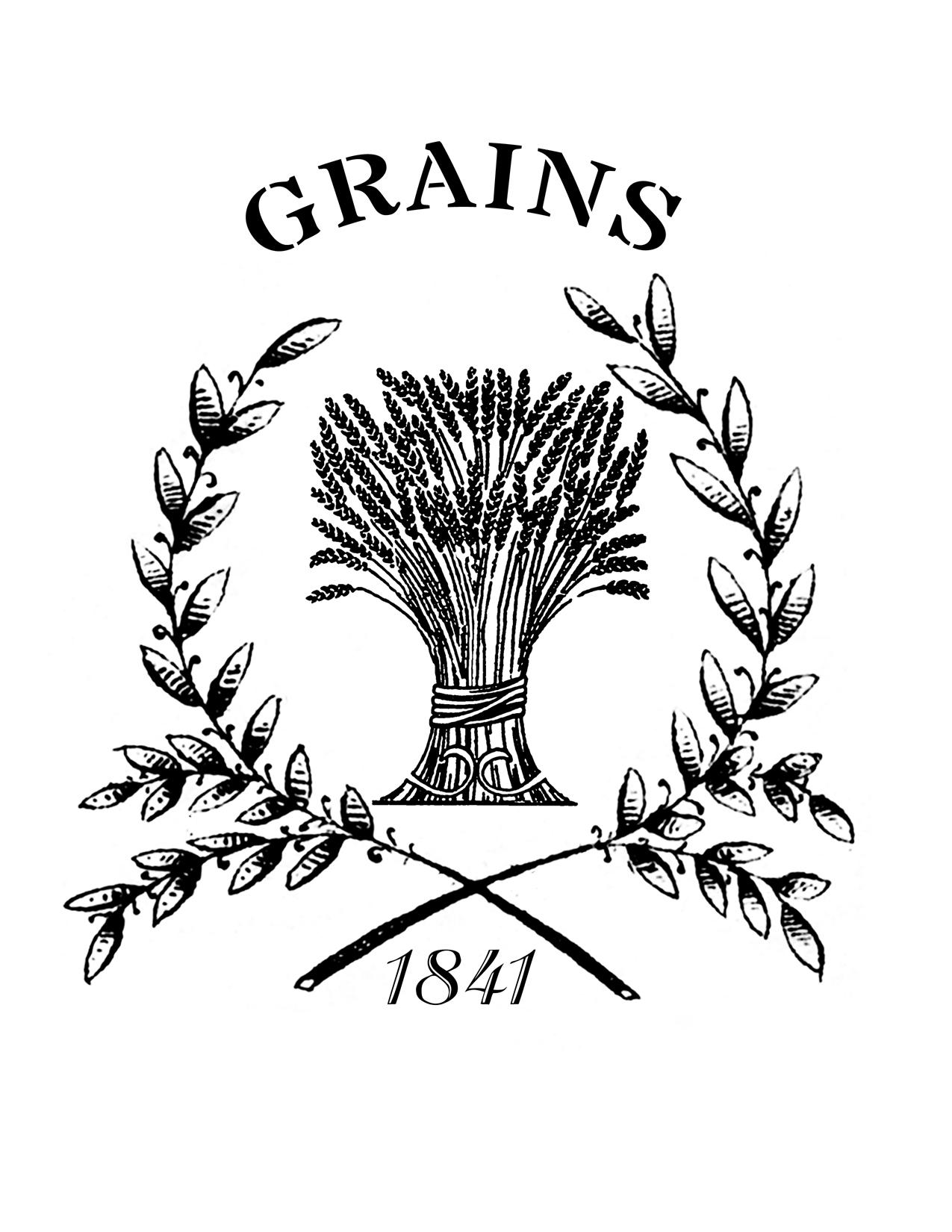 Grain clipart wheat leave Wheat Grain Grain The Printable