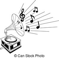 Gramophone clipart black and white 661 white Gramophone of and