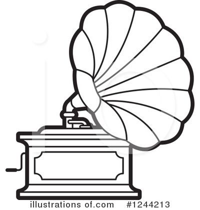 Gramophone clipart black and white Lal Clipart Perera #1244213 Clipart