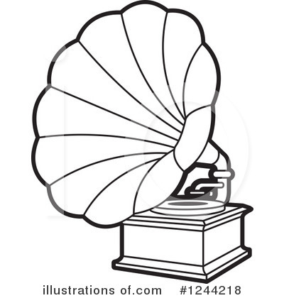 Gramophone clipart black and white Lal Clipart Perera #1244218 Clipart