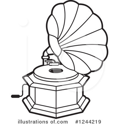 Gramophone clipart black and white Lal Clipart Perera #1244219 Clipart