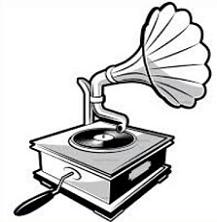 Gramophone clipart black and white Clipart Free gramophone Gramophone