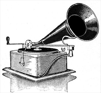 Gramophone clipart black and white 2 Free  gramophone 2