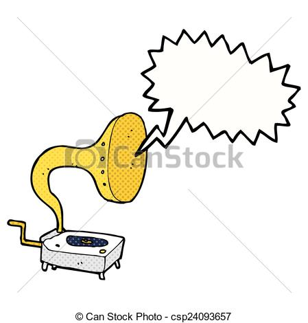 Gramophone clipart cartoon Of Clipart Vector with bubble