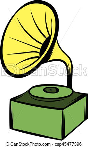 Gramophone clipart cartoon Icon of Gramophone csp45477396