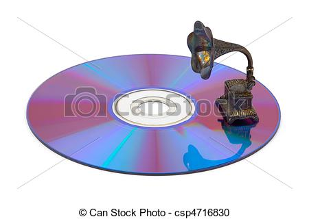 Gramophone clipart disk Photography and Computer disk isolated