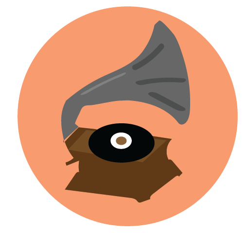 Gramophone clipart invention Gramophone Music Players Evolution of