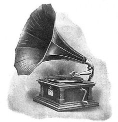 Gramophone clipart invention Phonograph Pinterest gramophone … for