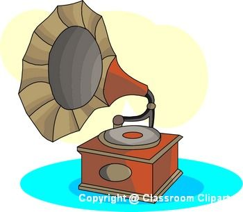 Gramophone clipart vector Images Invention Free on :