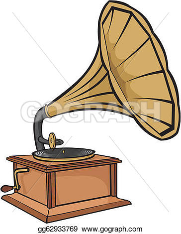Gramophone clipart melody  gramophone records Drawing Old