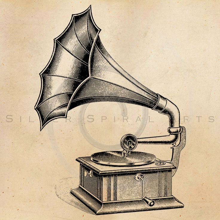 Gramophone clipart old school Vintage Download Phonograph record Image