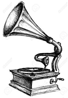 Gramophone clipart old school Vector Music Gramophone Josh sketch