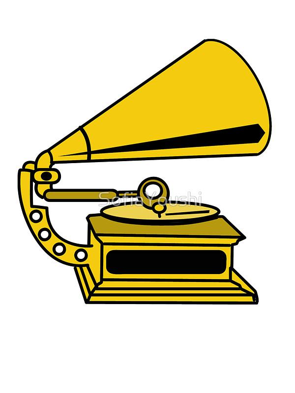 Gramophone clipart old school PHONOGRAPH SofiaYoushi