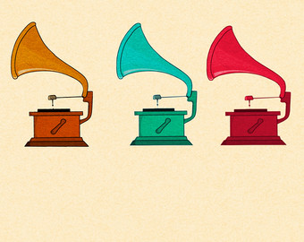 Gramophone clipart old school Gramophone gramophone Commercial Clipart school