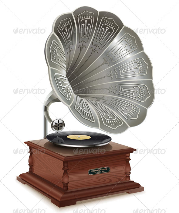 Gramophone clipart old school  Old Gramophone
