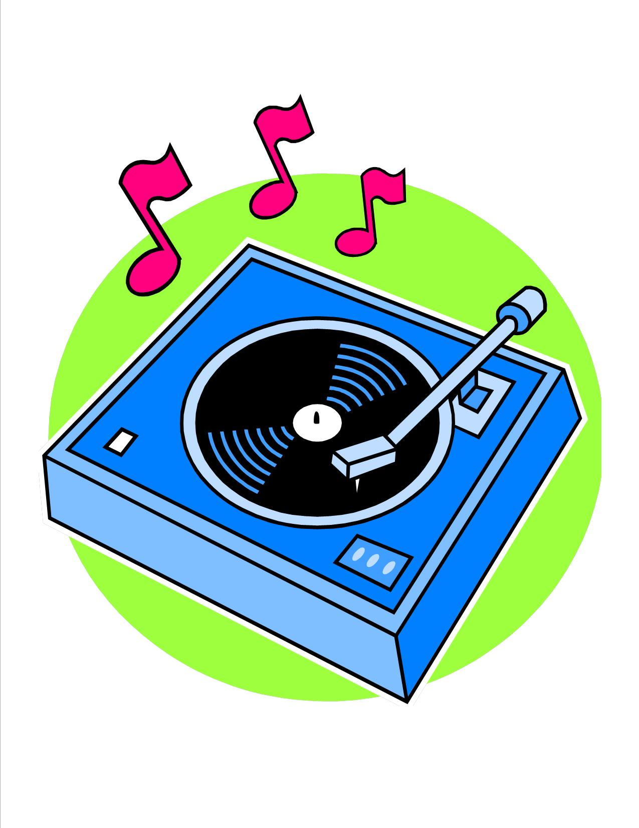 Record Player clipart old school #14