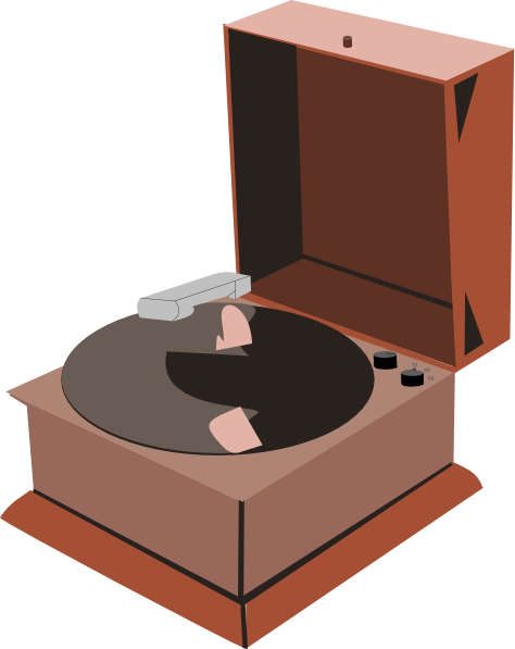 Gramophone clipart phonograph Clip on Record Free Free