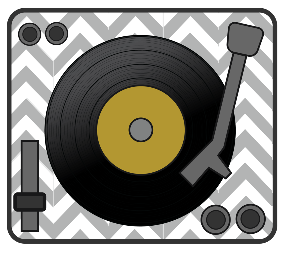 Record Player clipart 50's #7