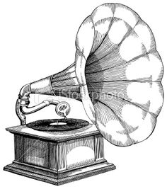 Gramophone clipart victorian Art Royalty Vector Antique Phonograph