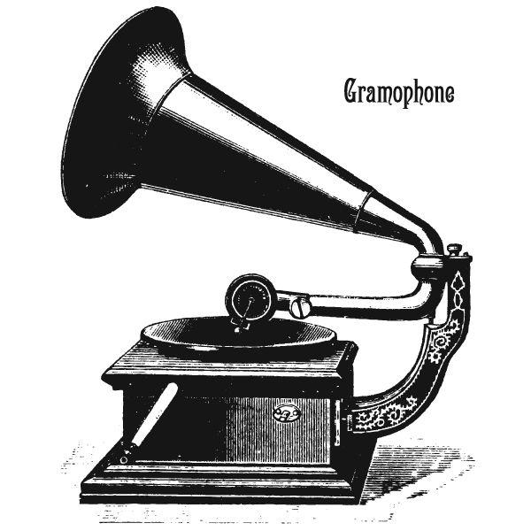 Gramophone clipart victorian Gramophone art Phonograph 117 best