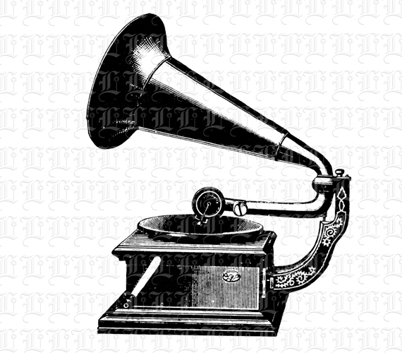 Gramophone clipart vintage Player dpi  Illustration Record