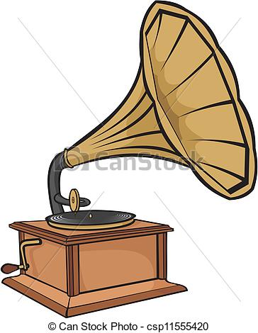 Record Player clipart phonograph Vintage crank gramophone Vector vintage