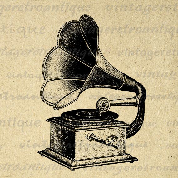 Gramophone clipart vintage music About this and Art Pin