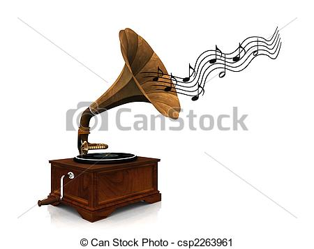 Gramophone clipart vintage music Playing csp2263961 An music of