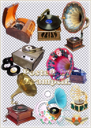 Gramophone clipart vintage music Retro clip music music for