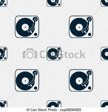 Gramophone clipart vinyl Pattern with Seamless Illustration icon