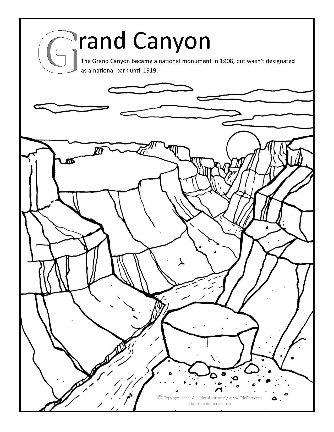 Grand Canyon clipart Grand page Coloring Grand Canyon