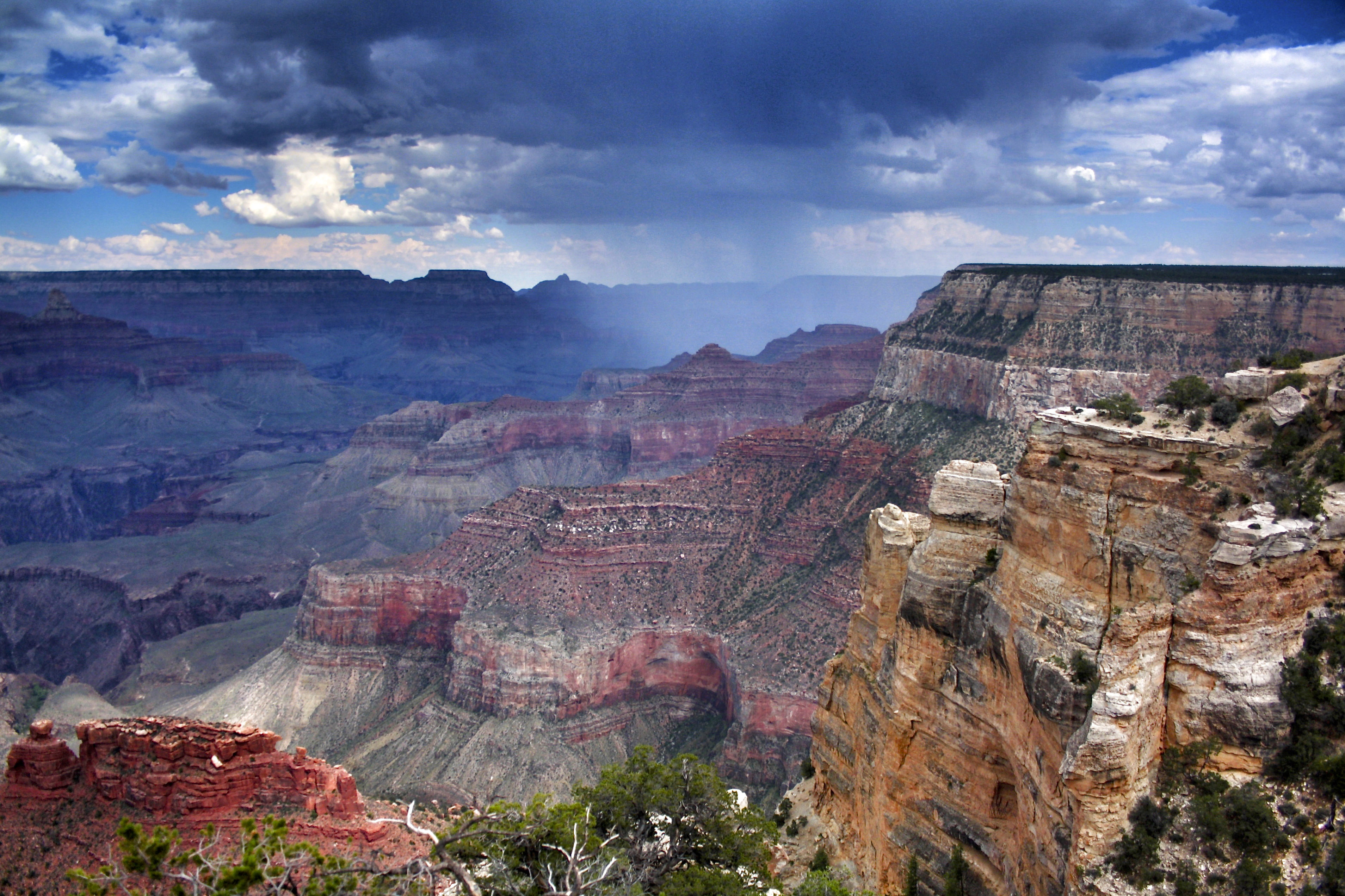 Grand Canyon clipart national parks Arizona rain clouds  Grand
