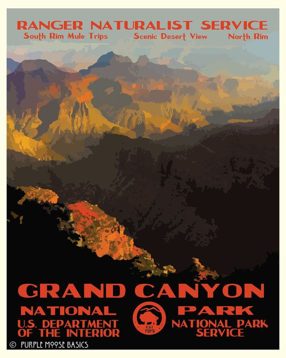 Grand Canyon clipart national parks 665 Posters on WPA Park