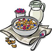Granola clipart Breakfast Breakfast Set Royalty Free