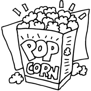 Popcorn clipart black and white Polyvore Popcorn Food clip art