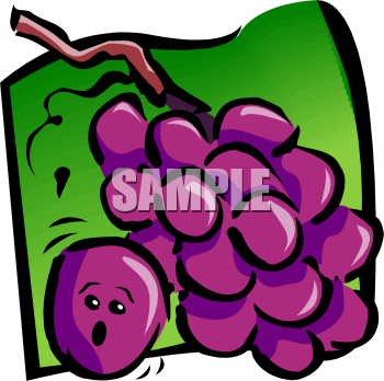 Grape clipart animated Picture Face of With Purple