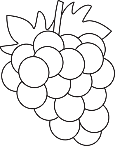 Grape clipart black and white Clipart Images Grapes Clipart White