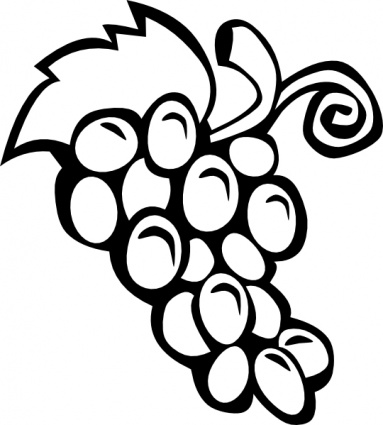 Grape clipart black and white And Free Images Black White