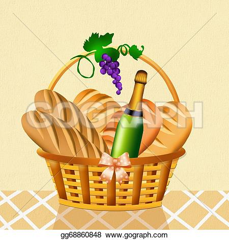 Basket the Illustration in and