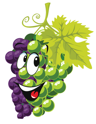 Grape clipart cartoon Purple grapes clipart Collection