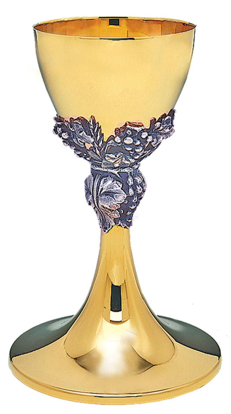 Grape clipart chalice Leaves with Silver Plated Gold