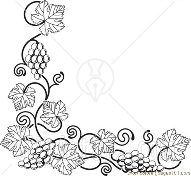 Grape clipart coloring page #15