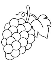 Grape clipart coloring page #3