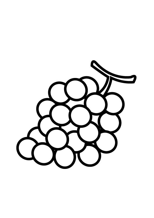 Grape clipart coloring page #13