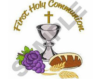Grape clipart communion chalice Embroidery First eucharist Etsy Holy